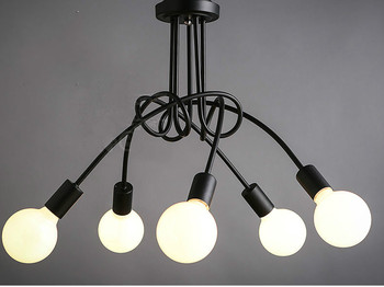 Freeshipping Semplice Creativo Nero bianco E27 lampada da soffitto dell'annata di personalità moderna breve luce di soffitto camera da letto luci di Bar