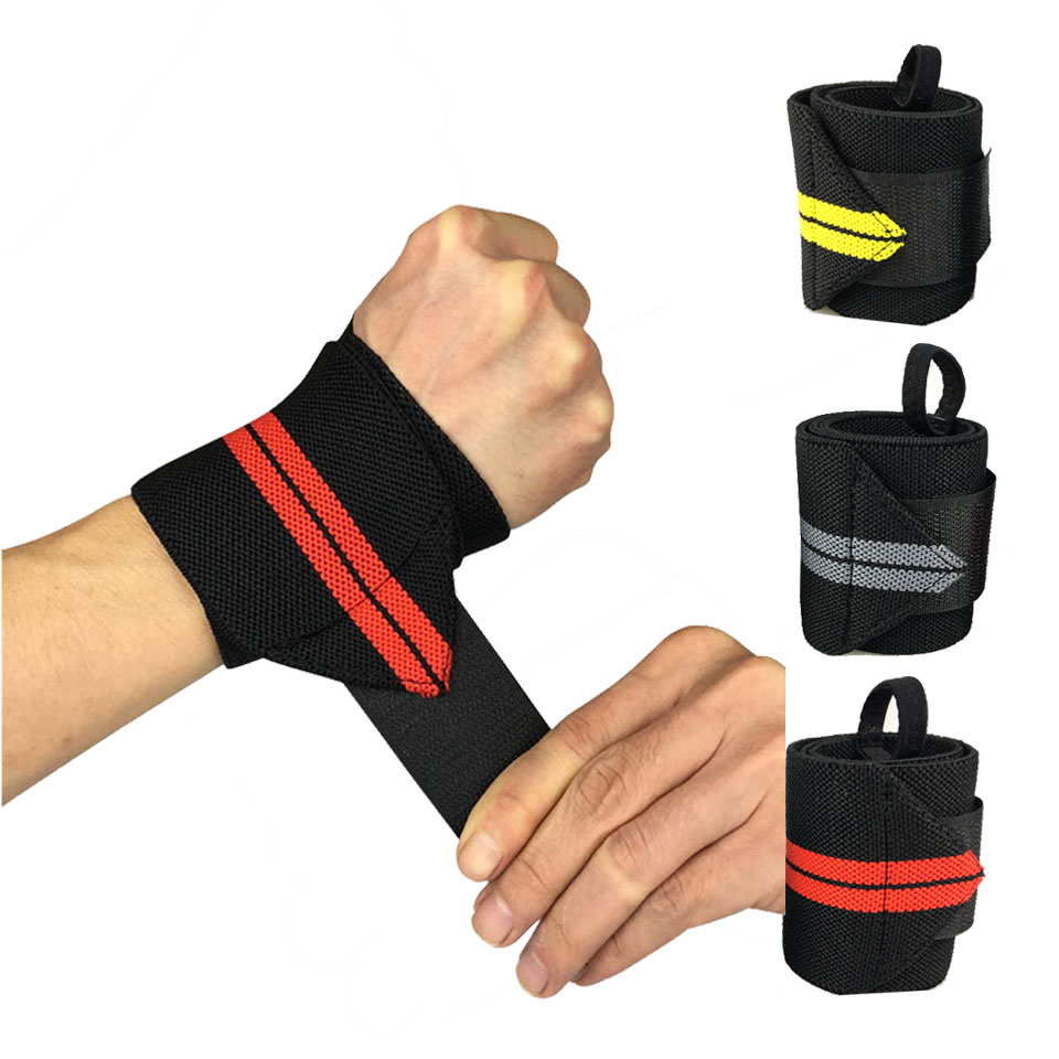 1Pcs Sport Wrist Wrap Bandage Hand Support Wristband Protector Sweatband Gym Strap Sport Brace Weight Lifting Strap Fitness Gym