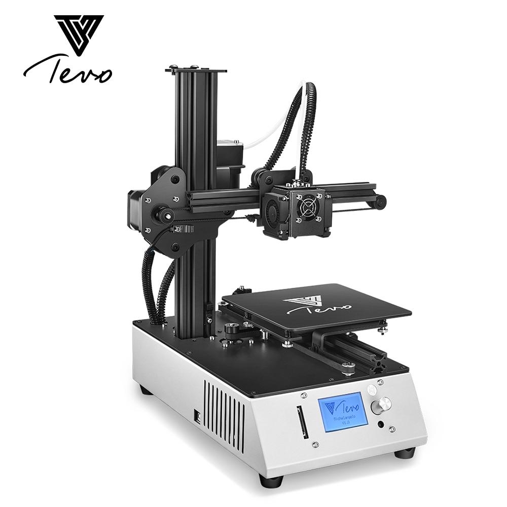 2018 nuevo TEVO Michelangelo Impresora 3D 3D Impresora totalmente ensamblada 3D Kit de Impresora marco de aluminio completo con Titan extrusor