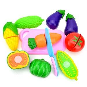 Image 3 - Jouets de cuisine pour enfants, en plastique, pour couper des fruits et légumes, cuisinier Cosplay, jouets éducatifs de sécurité, P20 6 pièces/ensemble