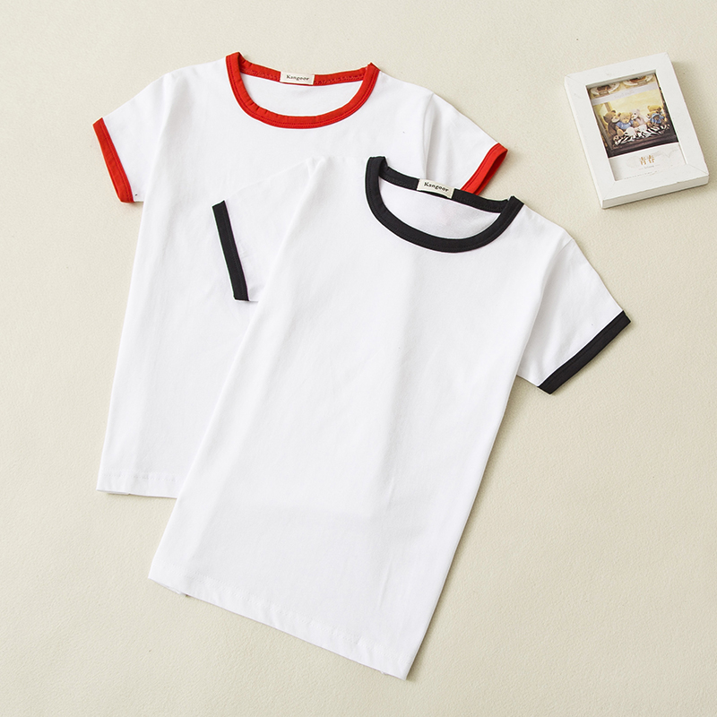 Wholesale Children T Shirt 2018 Summer Cotton Short Sleeve Patchwork Cotton Tshirts Kids Clothes 0-14 Years Old 5pcs/Lot image