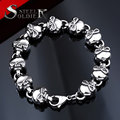 steel soldier stainless steel hip hop men skull bracelet fashion top quality unique jewelry