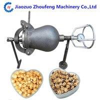Hand cranked cannon corn popper old fashioned pop corn puffing machine fire popcorn maker