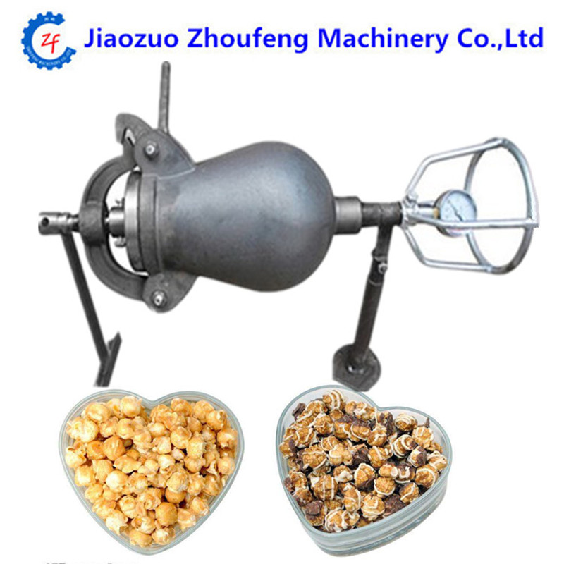Hand-cranked cannon corn popper old-fashioned pop corn puffing machine fire popcorn maker цены