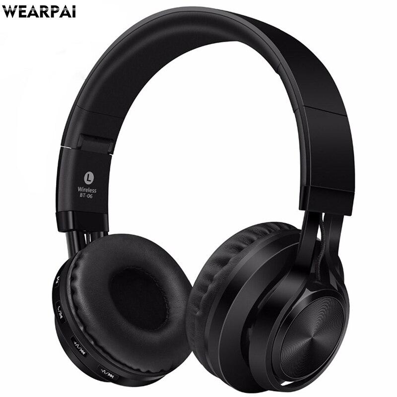 Wearpai BT06 Drahtlose Bluetooth Kopfhörer Headset mit mikrofon