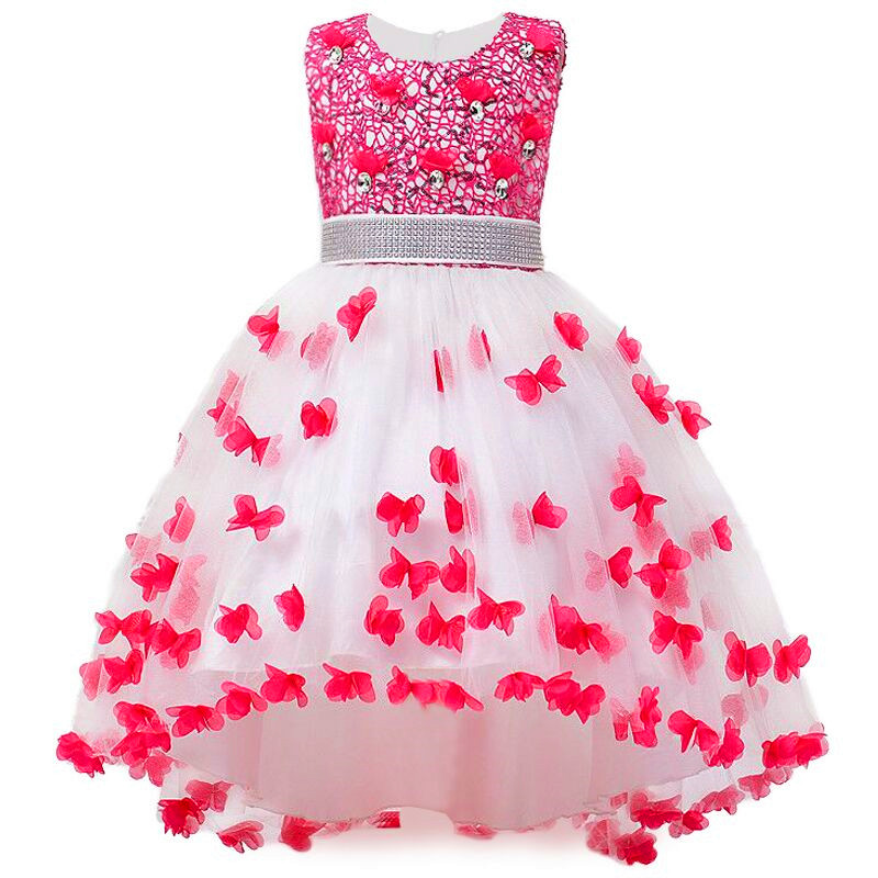 3-12 Years Girl Dress for Wedding Party Sequins Flowers Princess Girls Dresses Summer Girl Tailing dresses flower girls blue wedding dresses for little girls dress evening party dresses summer teens big girl wedding dress 3 12 years