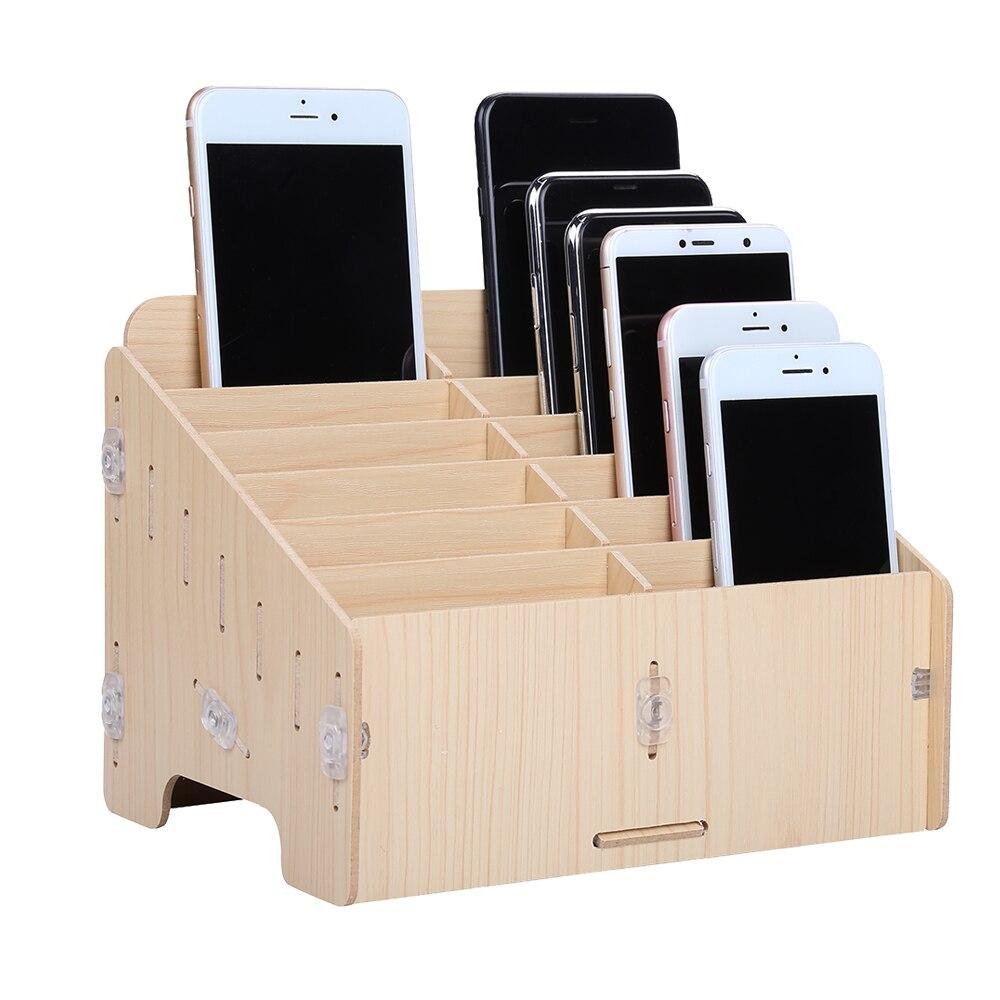 Boîte à outils de réparation de téléphone portable boîte à outils en bois boîte à outils boîte de rangement de composants électroniques