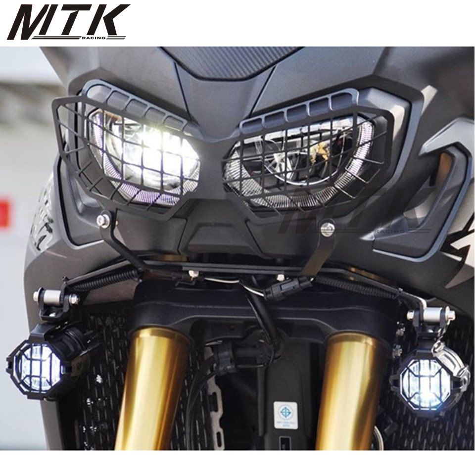 MTKRACING Motorcycle accessories Headlight Lens Guard Protector Africa Twins protection for Honda CRF 1000L 2016 mtkracing motorcycle accessories headlight grille guard cover for honda cb500x cb 500x 2016 2017