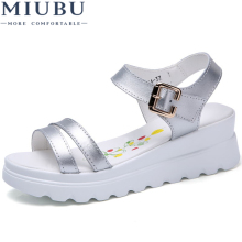 MIUBU Fashion Summer Women Sandals Lightweight Women Shoes Wedges Sandals Beach Women Sandals Summer Shoes цена 2017