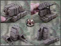 Mag Pistol 2 + 1 MAG Two Small Pouch And One 5.56 Mag Pouch M4 Tactical Magazine Pouch Black Bags hunting accessories