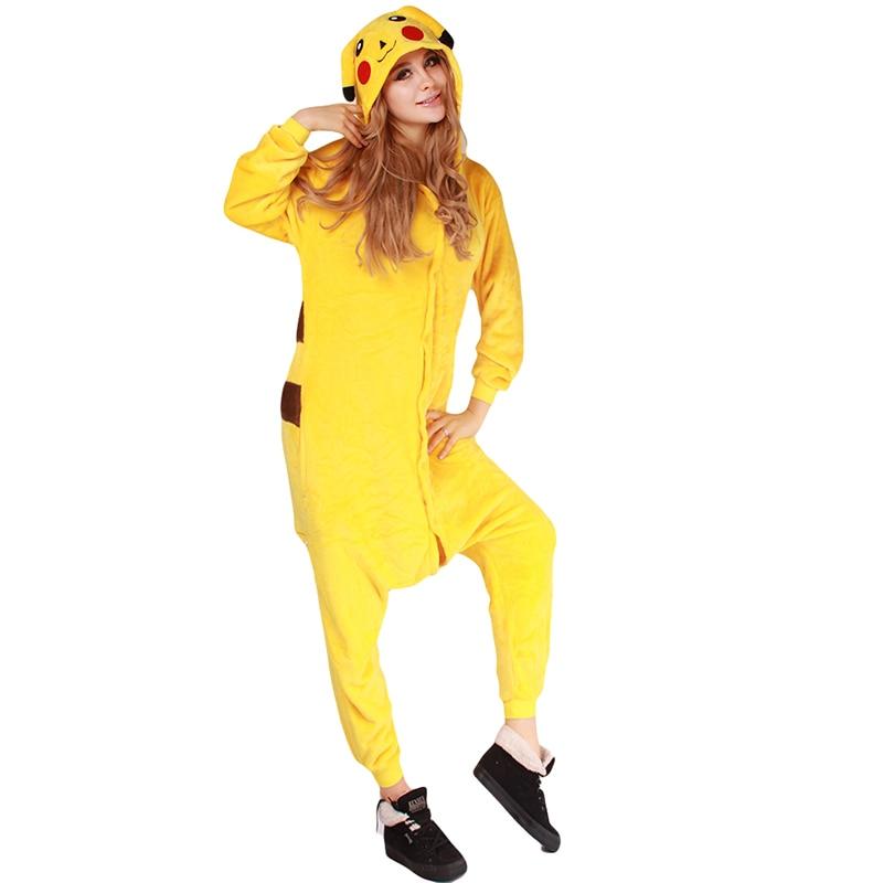 aliexpresscom buy cute anime cosplay pokemon pikachu sleepwear regino knitting adult nightgowns girls pajamas carnival halloween costume for women from