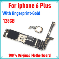 128gb for iphone 6 plus Motherboard with Touch ID,Gold Original unlocked for iphone 6P Mainboard with IOS System,Free Shipping