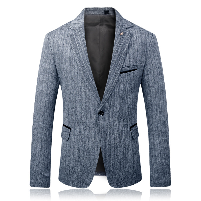 HOO  New 2020 Men's Business Casual Blazer Stripe Age Season Cultivate One's Morality Men's Blazer