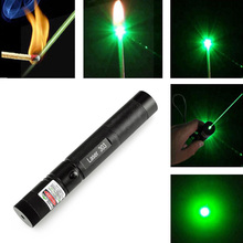 High Quality Promotion 303 Laser Pointer High Power Green Laser Pointer Pen Lazer Burning Match + Safe Key With No 18650 Battery недорого