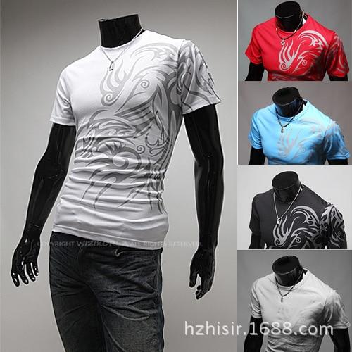 Dragon Ball New Mens T Shirts Funny Handsome Printing Tattoo Round-neck T-shirt Short Sleeve Casual Tee Tops Tshirt Men