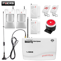 Final Clear Out! FUERS Wireless GSM Burglar Alarm System Detector Motion Sensor Russia/English Voice Security Auto Dial DIY Kit