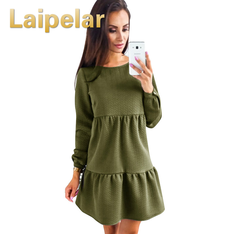 Laipelar New Arrive <font><b>Women</b></font> <font><b>Dress</b></font> Autumn And Winter Fashion Long Sleeve <font><b>Dresses</b></font> <font><b>Blue</b></font> <font><b>Pink</b></font> ArmyGreen <font><b>Womens</b></font> Clothing <font><b>Sexy</b></font> <font><b>Dress</b></font> image
