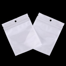 100Pcs Waterproof Zipper Plastic Bags Packaging Pouches Ziplock Zip Lock Bags Package With Hang Hole(China)