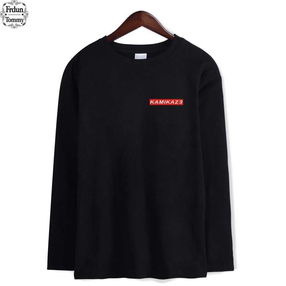 Frdun Tommy Eminem Autumn Long Tee Shirt New Album Kamikaze Fashion Warm  Long Sleeve O-neck Tshirt Women/Men Tshirt Clothes 4XL