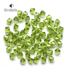 Wholesale 6mm 300pcs/Lot 6 MM Bicone Roundlle Glass Crystal Beads 18 Color Pick 5301 Cystal Bead