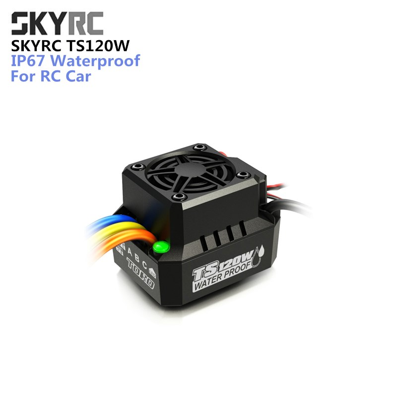 Original Spare Part SKYRC TS120W 120A IP67 Waterproof Brushless motor Anti-Water ESC for HSP 1/10 1/12 RC Car Sensorless hsp racing rc car spare parts accessories brushless esc hobby wing wp 10bl60 rtr waterproof