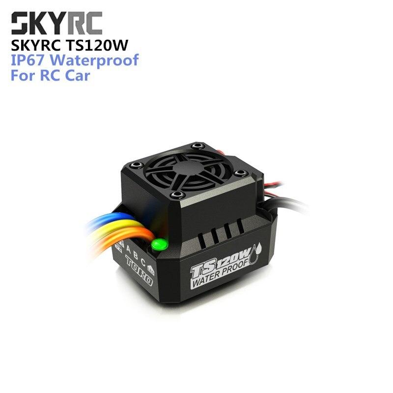 Pièce De Rechange d'origine SKYRC TS120W 120A IP67 Étanche Brushless moteur Anti-Eau ESC pour HSP 1/10 1/12 RC Voiture sans capteur