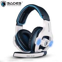 Gaming Słuchawki SADES SA-903 USB Gaming Gamer Headset 7.1 Kanał PC Gry fones Słuchawki z Mic DOPROWADZIŁY do Komputera de ouvido