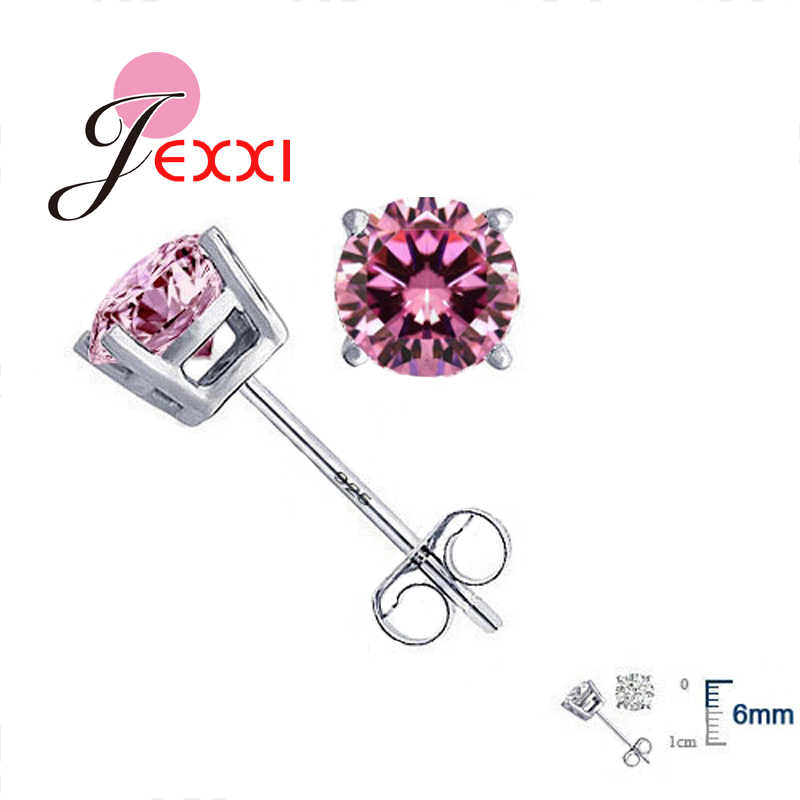 77d4b4b01 Detail Feedback Questions about JEXXI Wholesale High Quality Jewelry 925  Sterling Silver Women Accessories Cubic Zirconia CZ 4 Claws Stud Earrings 8  Colors ...
