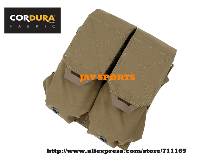 TMC Double M4 Magazine Pouch Cordura 500D Matte MOLLE Pouch Coyote Brown+Free shipping(SKU12050678)