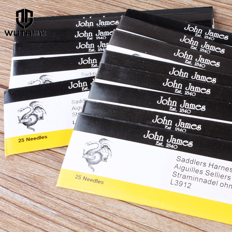 25 John James Saddlers Harness Needles Leather Sewing, round-pointed needles