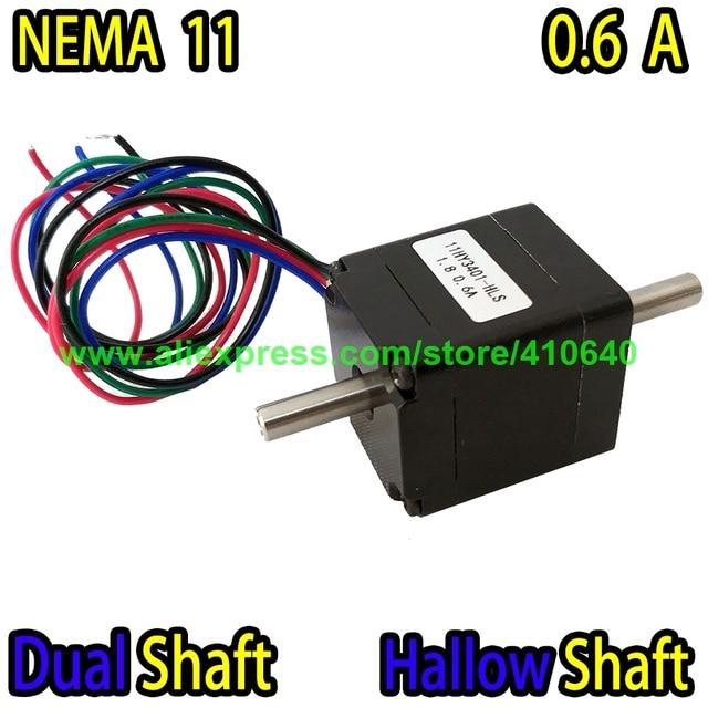 DUAL SHAFT AND HOLLOW SHAFT Nema11 Stepper Motor 11HY3401-HLS 0.6 A 5.5 N.cm Torque Apply for Mounter or Dispenser or Printer