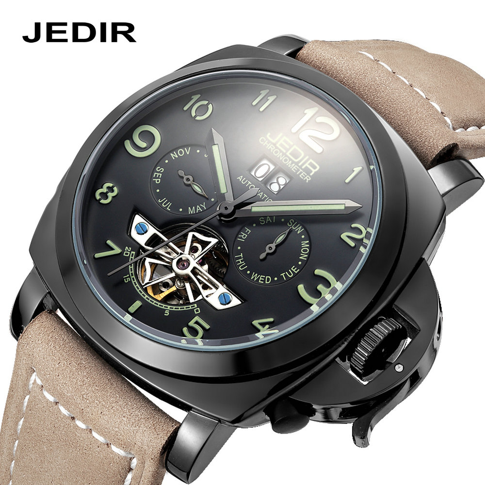 Automatic mechanical army watches men luxury brand JEDIR Diver 30M waterproof table luminous navy Male Clock relogio masculino fashion watches men top brand automatic mechanical wristwatch leather band waterproof luminous male clock relogio masculino 46