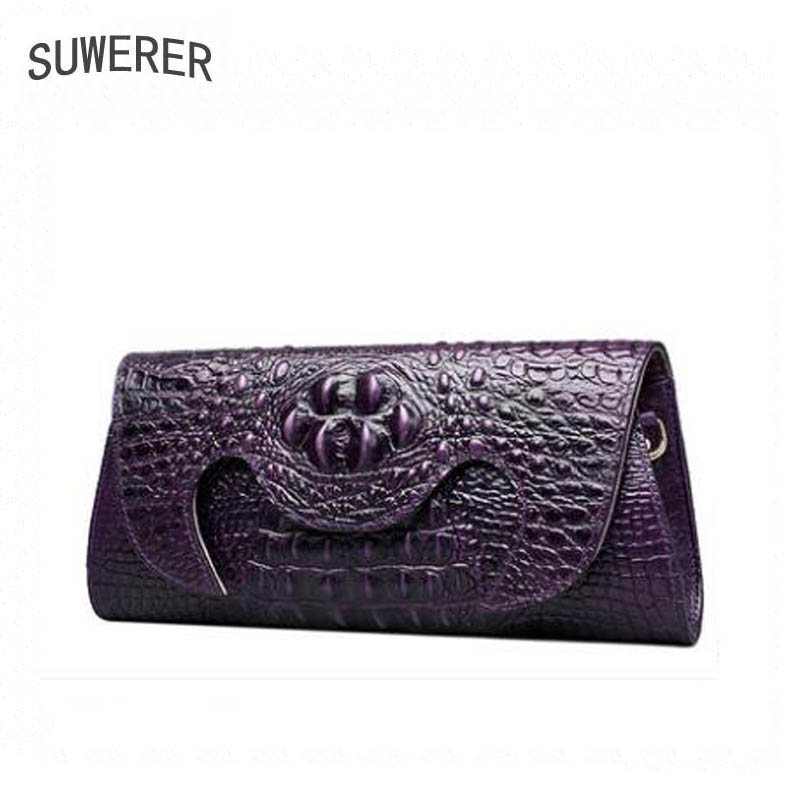 Genuine leather bag free delivery women bag Fashion crocodile pattern shoulder Messenger bag Luxury retro bag genuine leather bag free delivery women bag ethnic retro embossed handbag originality shoulder messenger bag