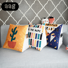 AAG Triangular Wedge Lumbar Support Cushion Lounger Couch Bed Backrest Reading Pillow Office Car Home Decor Chair Waist Pillow