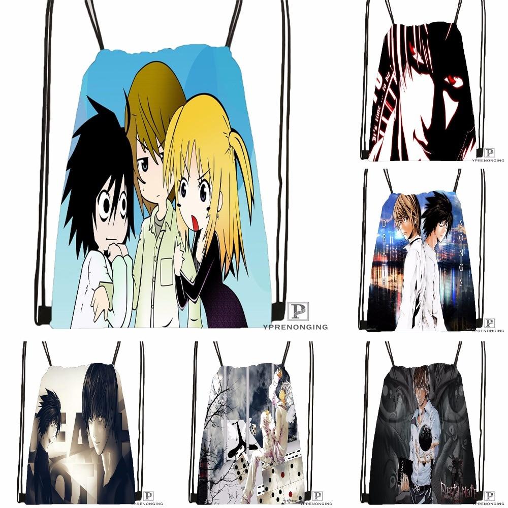 Custom Death Note Anime #8  Drawstring Backpack Bag For Man Woman Cute Daypack Kids Satchel (Black Back) 31x40cm#180531-01-40