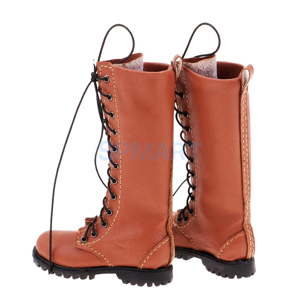 1pair 1:6 Male Boots Man Shoes for 12/'/' Hot Toys//Phicen//Kumik//CY Girls A