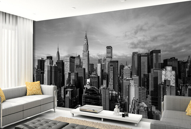 Custom photo wallpaper New York city wall murals for the living