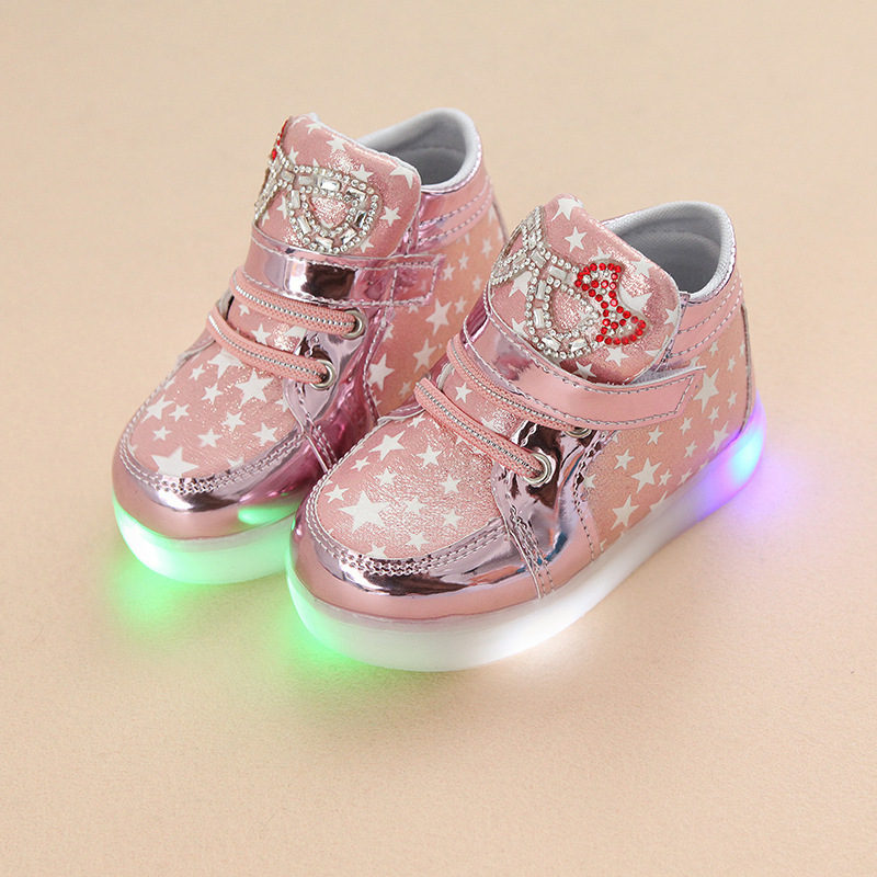Wholesale Spring And Autumn Light Cartoon Cat LED Girl Flash Fashion Leisure font b Children s