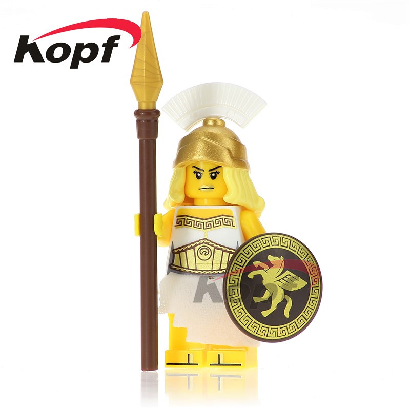 Single Sale Historic Site Quest Athena Tutankhamun Evil Knight Ares Super Heroes Building Blocks Bricks Toys For Children XH 640