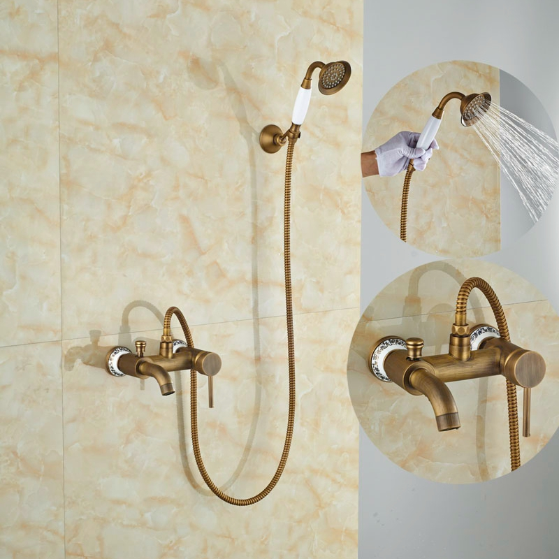 ộ_ộ ༽Luxury Single Lever Bath Tub Shower Set Wall Mounted Shower ...