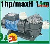 0.75KW/1HP бассейн насос с фильтром, бассейн фильтр насоса Макс Расход 275 л/мин (16500 л/ч) Макс глава 11 м