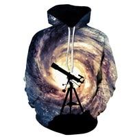 New Fashion Men Women 3d Sweatshirts Print Telescope Whirlpool Hoodies Autumn Winter Thin Hooded Pullovers Tops