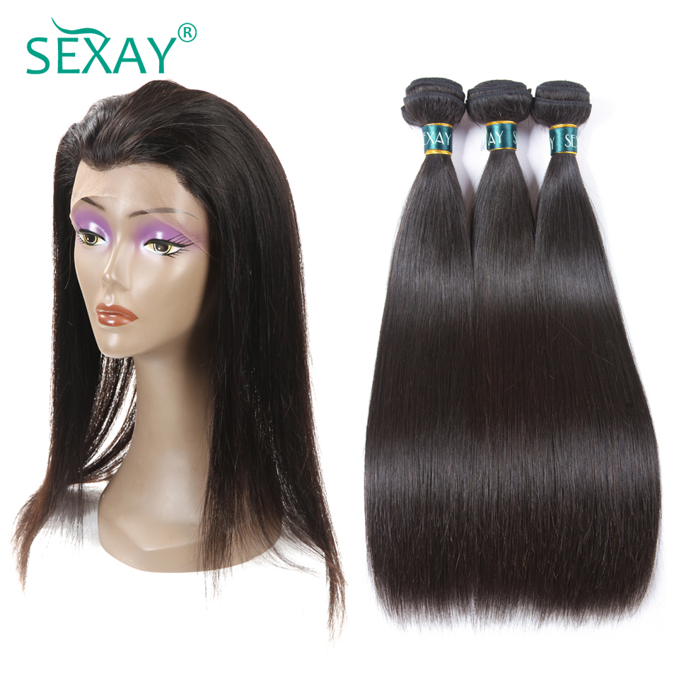 Alipearl Hair 360 Lace Frontal With Bundles Pre Plucked With Baby Hair Brazilian Hair Weave Straight Remy Hair With 360 Frontal High Quality And Inexpensive Hair Extensions & Wigs