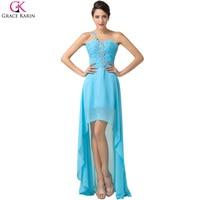 Grace Karin Evening Dress Long 2016 High Low Front Short Back Long Prom Women Formal Dress