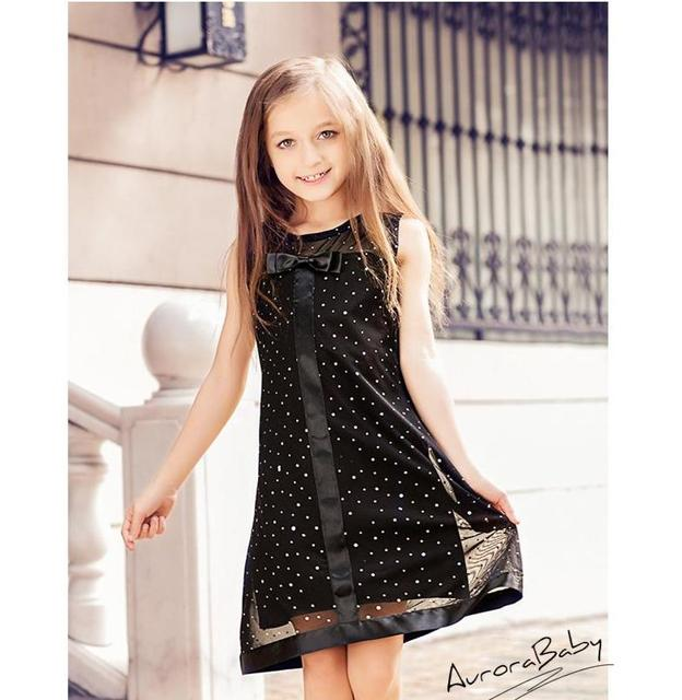 Meninas Vestido Bowknot Malha Primavera Roupa Dos Miúdos Marca As Crianças Se Vestem Roupas para Meninas Princesa Festa de Natal