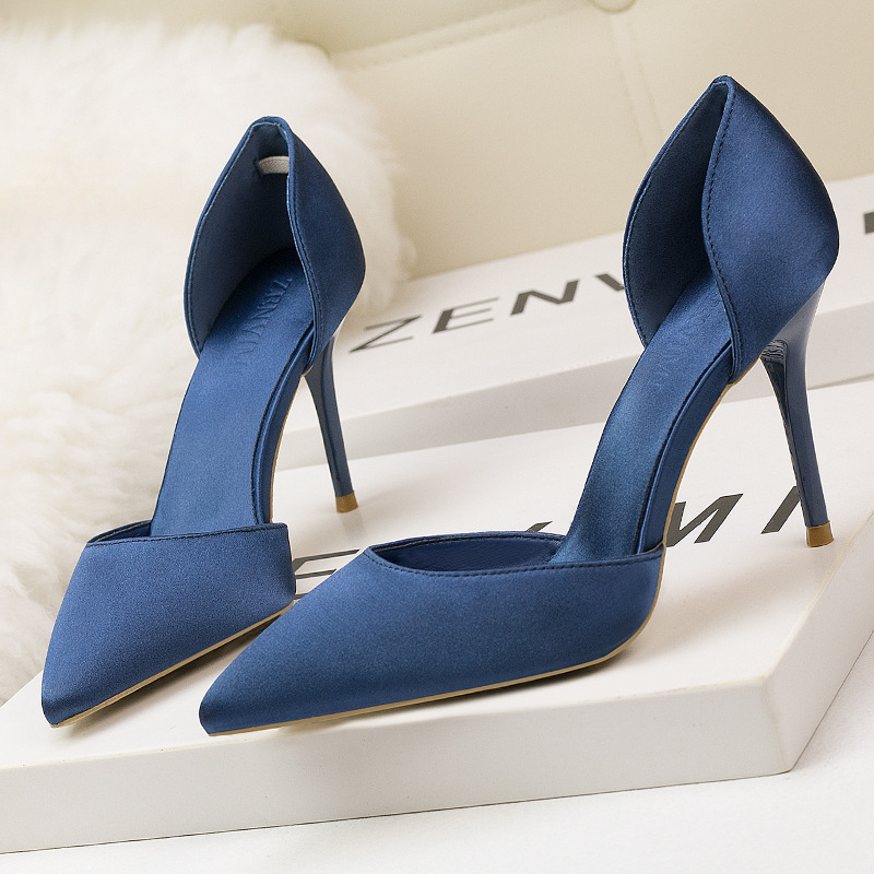 RUIDENG women high heel pumps party sexy wedding fashion shoes slip on thin heels 9cm pointed toe black blue pink office lady 2018 women high heel party pumps wedding sexy shoes lady thin heels 9 cm ankle buckle strap pointed toe rivet nightclub fashion