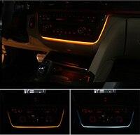 Оранжевый Голубой цвет переключаемый атмосфера огни построен на стерео панель консоли, декоративные лампы для B МВт 3 серии F30 F32 F35