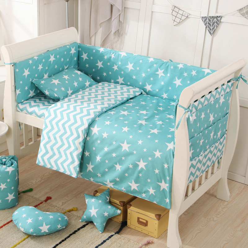 2019 Cotton Baby Bedding Sets Animal Deer Newborn Bumpers Soft Breathable Liner High Quality Sheet Pillow Storage Bag Unisex
