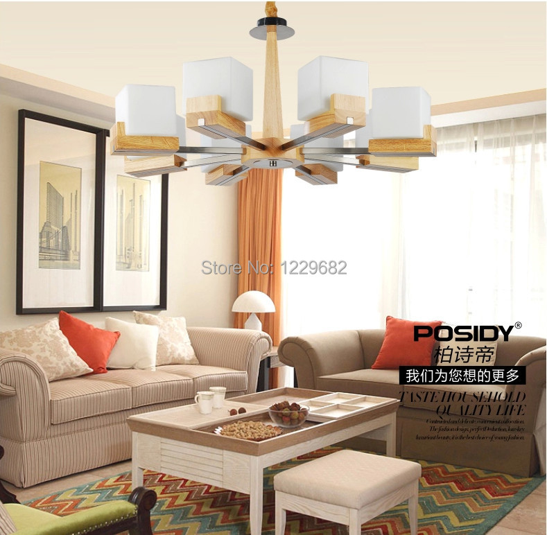 2014 Wood Modern Led Ceiling Lights For Living Room Flush