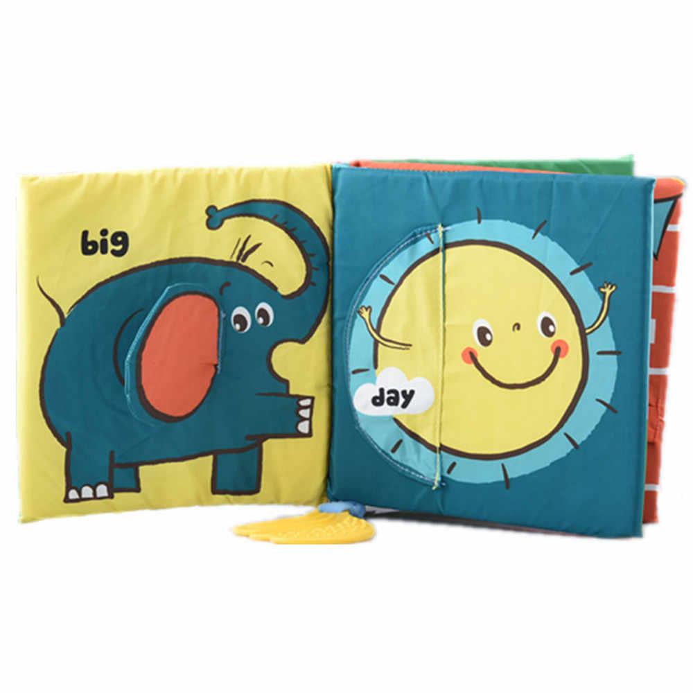 Животные совпадающие детские игрушки ткань книги по развитию обучения и образования ткань книги 3 ~ 24 месяца мягкие игрушки для детей MA15f